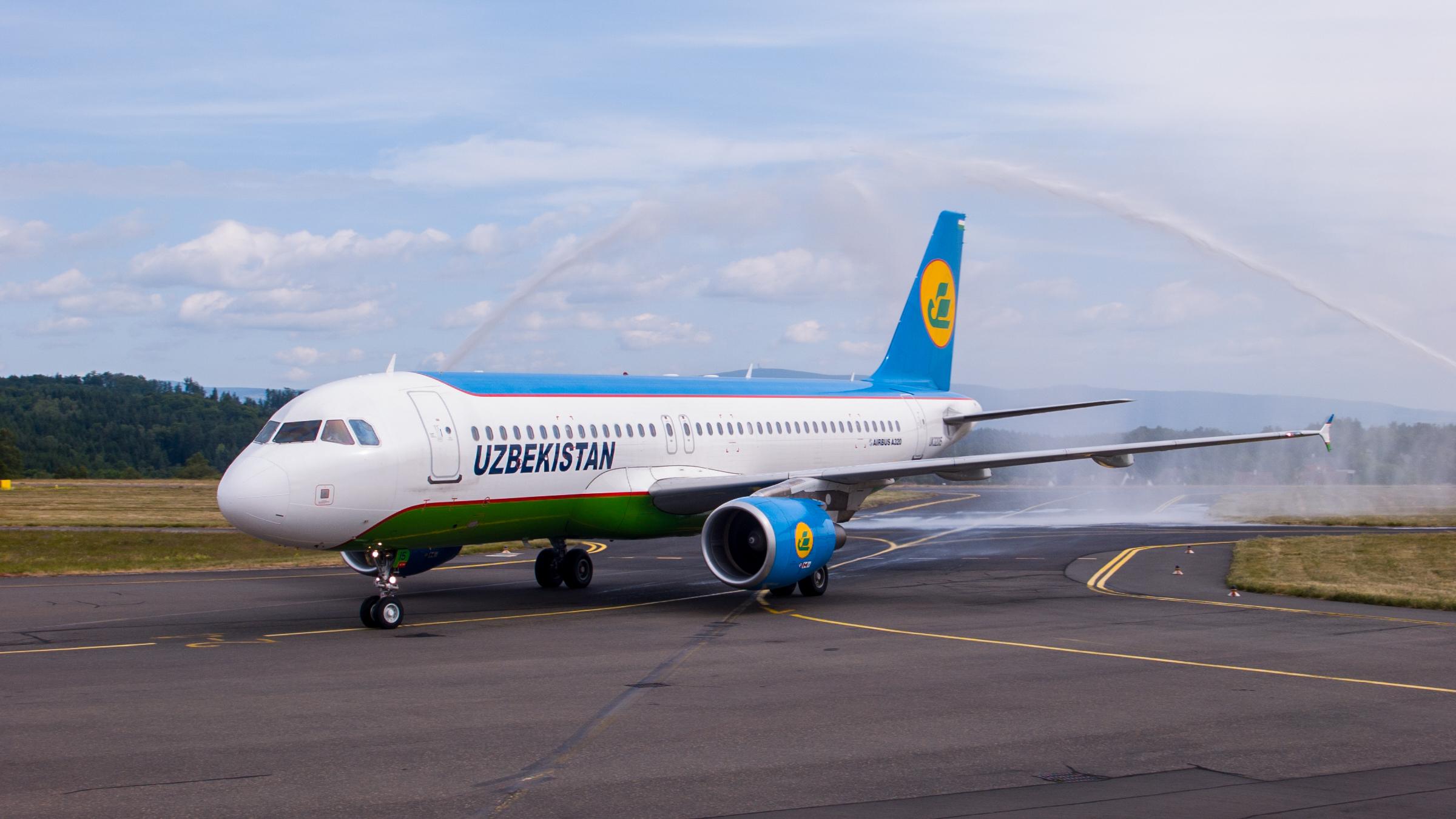FIRST VISIT Uzbekistan Airways at Karlovy Vary