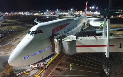 Na horní palubě Boeingu 747-400 British Airways