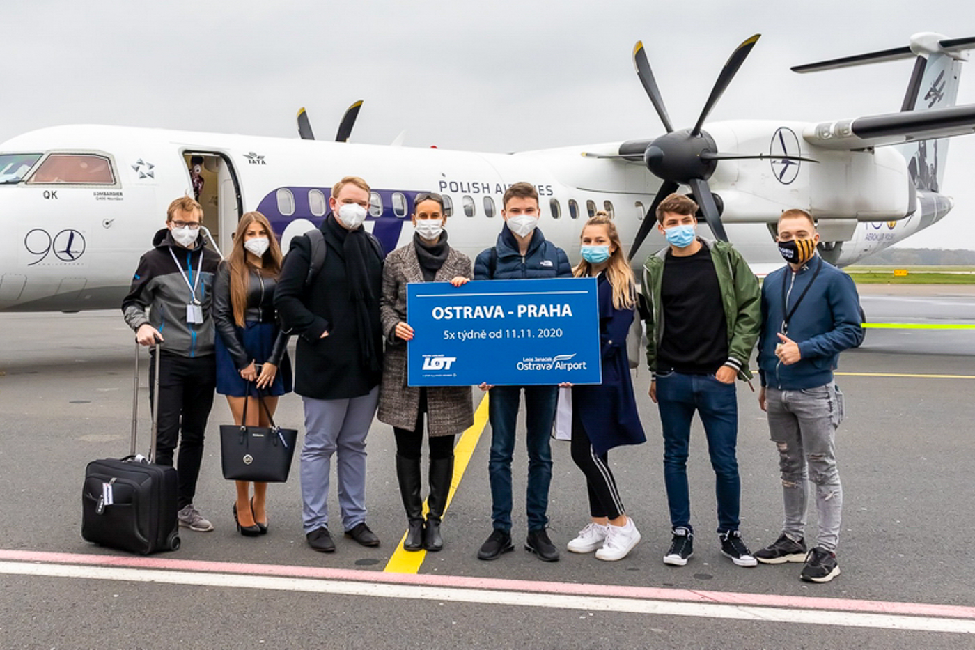 FOTOREPORTÁŽ: Inaugurační let LOT Polish Airlines Ostrava-Praha