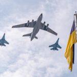 Letecká přehlídka nad Kyjevem 30. výročí nezávislosti Ukrajiny